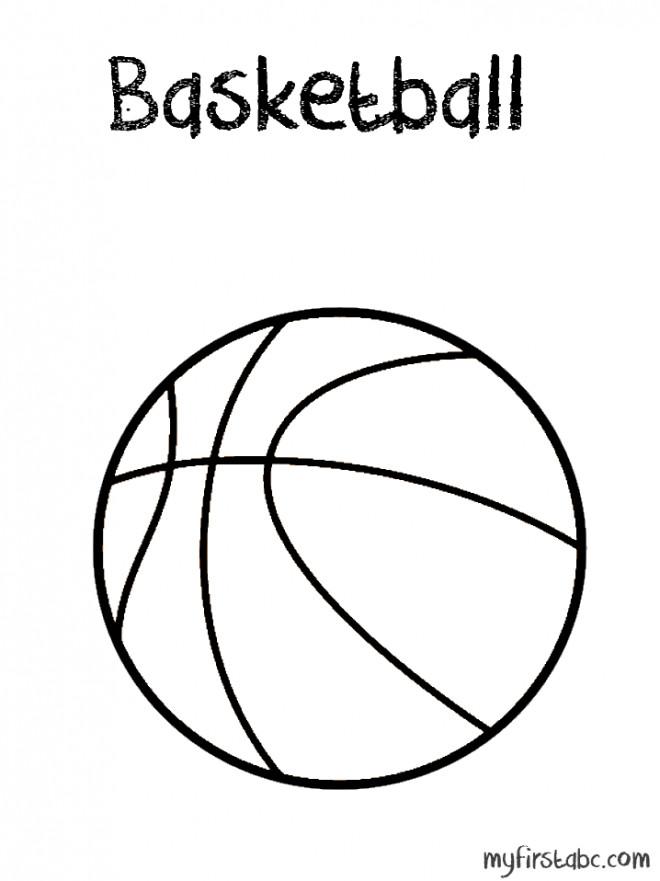 Coloriage et dessins gratuits Basketball sport de salle à imprimer