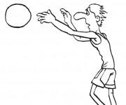 Coloriage Basketteur facile