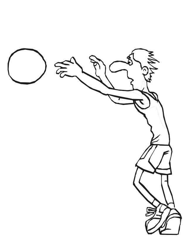 Coloriage et dessins gratuits Basketteur facile à imprimer