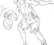 Coloriage Basketteur inattentif