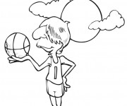 Coloriage Basketteur sous le soleil
