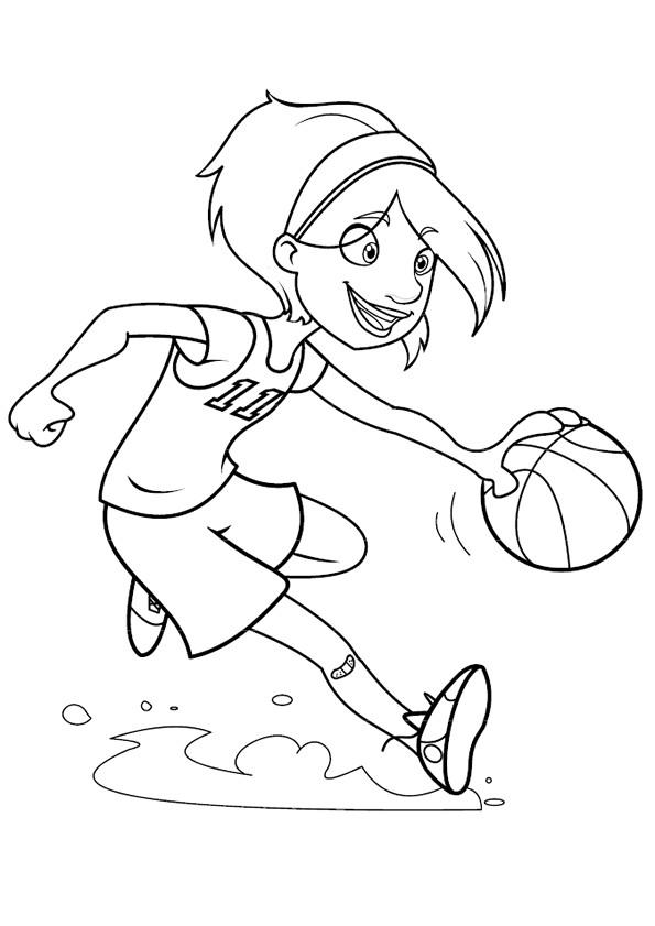 Coloriage et dessins gratuits Basketteur stylisé à imprimer
