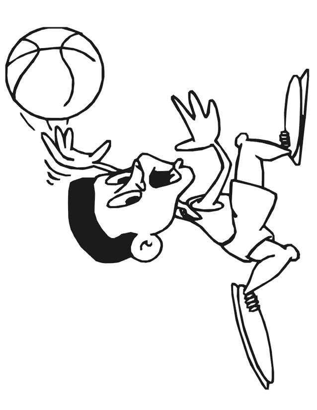 Coloriage et dessins gratuits Basketteur tout petit à imprimer