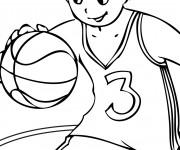 Coloriage Enfant Basketteur