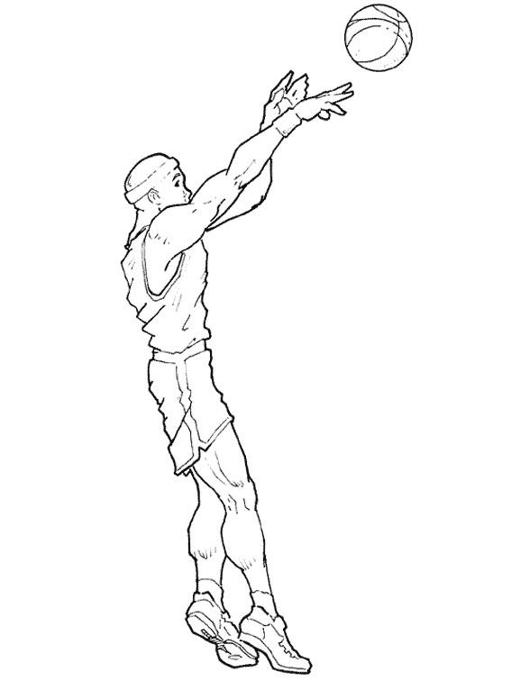 Coloriage et dessins gratuits Joueur de Basket NBA à imprimer