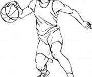 Coloriage et dessins gratuit Joueur de Basketball à imprimer