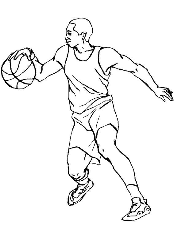 Coloriage et dessins gratuits Joueur de Basketball à imprimer