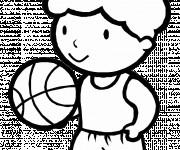 Coloriage Le petit Basketteur mignon