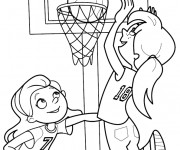 Coloriage Basket Fille.Coloriage Basketball Gratuit A Imprimer