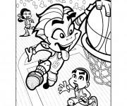 Coloriage Basketball gratuit à imprimer liste 60 à 80
