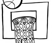 Coloriage et dessins gratuit Panneau de Basket à imprimer