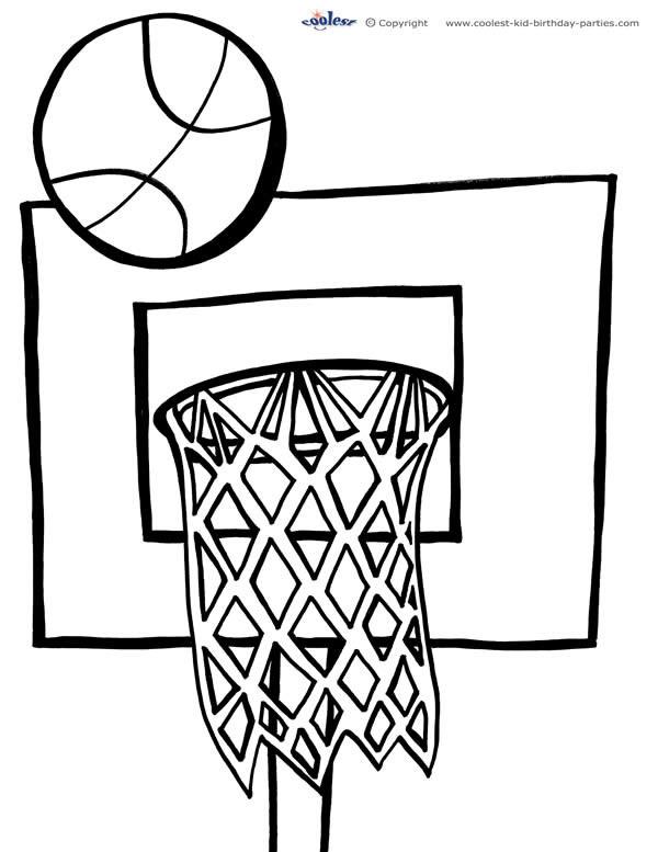Coloriage et dessins gratuits Panneau de Basket à imprimer