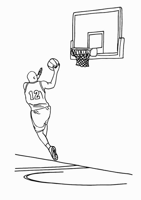 Coloriage sport de basketball dessin gratuit imprimer - Dessin basket ...