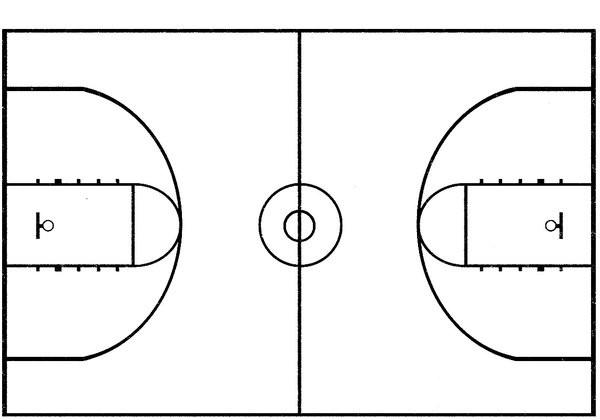 coloriage un terrain de basket dessin gratuit  u00e0 imprimer