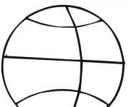 Coloriage Une balle de Basket
