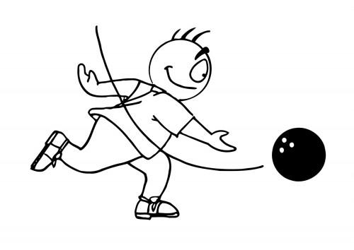 Coloriage et dessins gratuits Ballon Bowling et Joueur à imprimer
