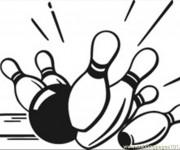 Coloriage et dessins gratuit Ballon et Quille à imprimer