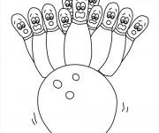 Coloriage bowling 3 gratuit imprimer en ligne - Bowling dessin ...