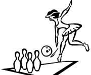 Coloriage et dessins gratuit Bowling à découper à imprimer