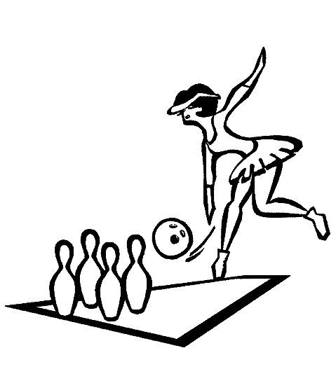 Coloriage et dessins gratuits Bowling à découper à imprimer