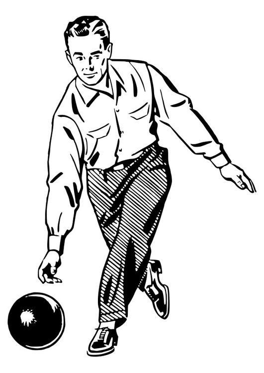 Coloriage et dessins gratuits Bowling adulte à imprimer