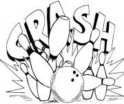 Coloriage et dessins gratuit Bowling en couleur à imprimer