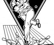 Coloriage et dessins gratuit Bowling professionnel à imprimer