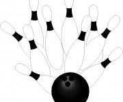 Coloriage et dessins gratuit Bowling Quilles à imprimer