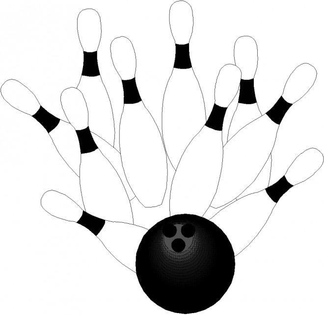 Coloriage et dessins gratuits Bowling Quilles à imprimer