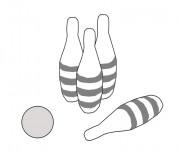 Coloriage et dessins gratuit Bowling Quilles-o-thon à imprimer