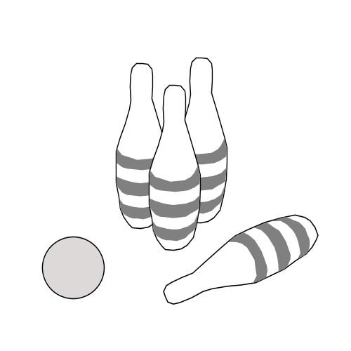 Coloriage et dessins gratuits Bowling Quilles-o-thon à imprimer