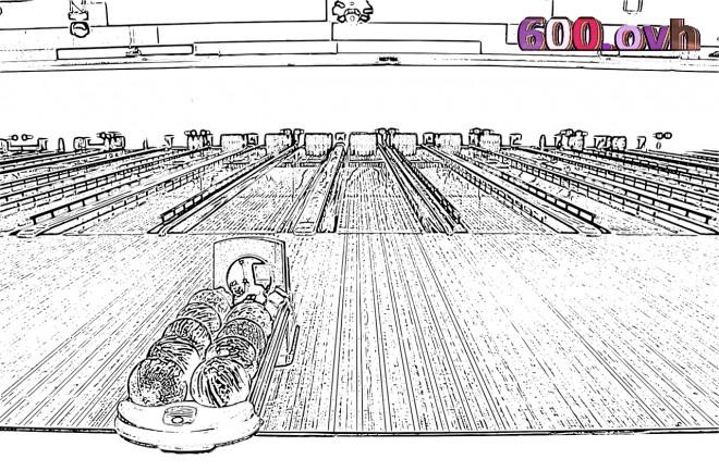Coloriage et dessins gratuits Bowling réaliste à imprimer