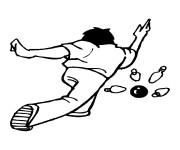 Coloriage et dessins gratuit Joueur de Bowling à imprimer