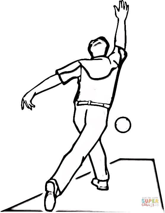 Coloriage et dessins gratuits Sport de Bowling à imprimer