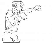 Coloriage dessin  Boxe 1