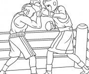 Coloriage dessin  Boxe 3