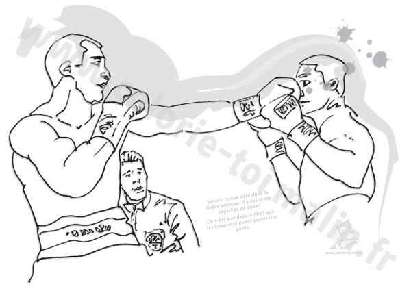Coloriage et dessins gratuits Boxe Professionnelle à imprimer