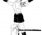 Coloriage et dessins gratuit Boxeur confiant à imprimer