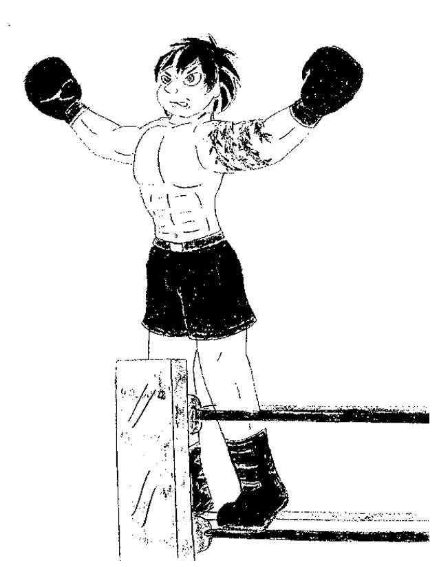 Coloriage et dessins gratuits Boxeur confiant à imprimer