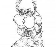 Coloriage et dessins gratuit Boxeur en garde à imprimer