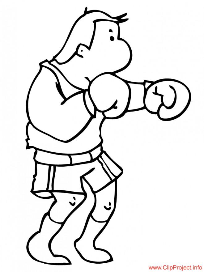 Coloriage et dessins gratuits Boxeur en ligne à imprimer