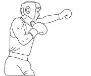 Coloriage et dessins gratuit Boxeur facile à imprimer