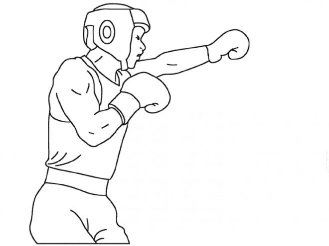 Coloriage et dessins gratuits Boxeur facile à imprimer