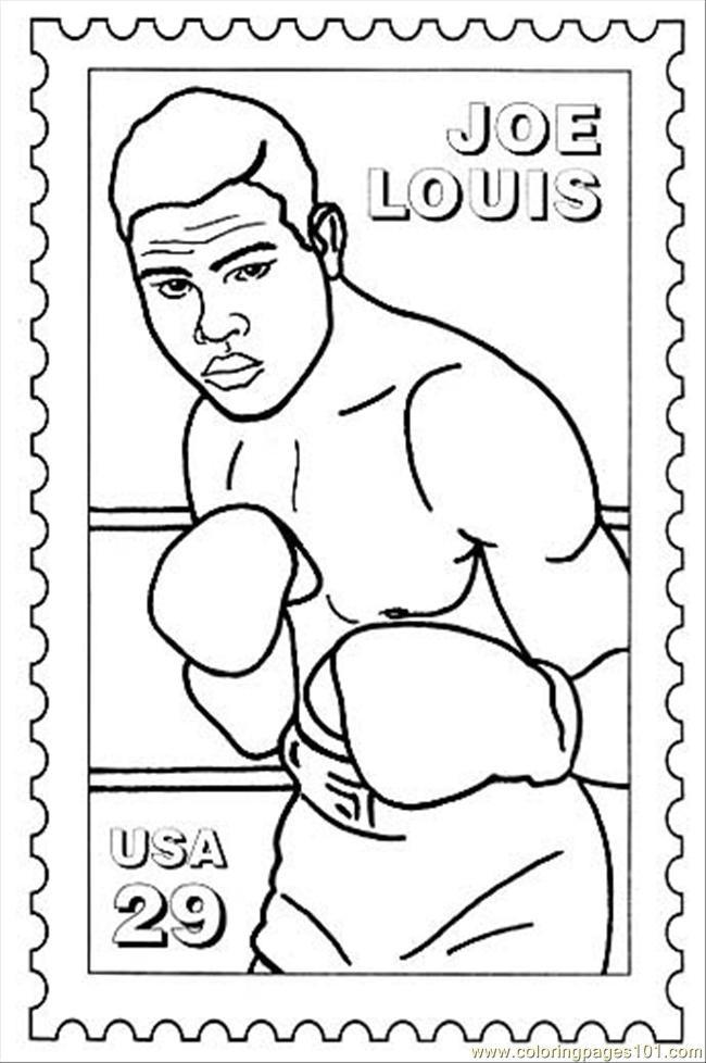 Coloriage et dessins gratuits Boxeur Joe Louis à imprimer