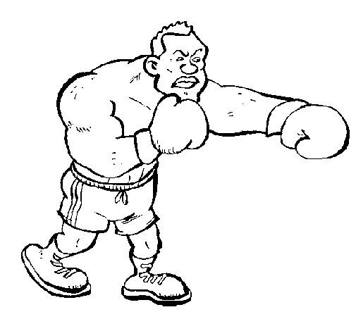 Coloriage et dessins gratuits Boxeur menaçant à imprimer