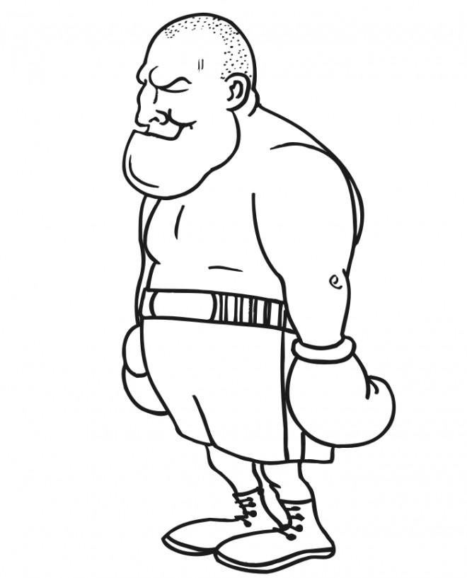 Coloriage et dessins gratuits Boxeur Poids Lourds à imprimer
