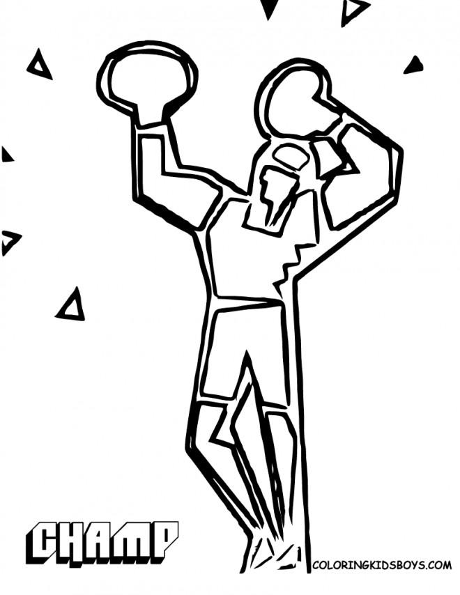 Coloriage et dessins gratuits Boxeur stylisé  pour enfant à imprimer