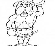 Coloriage et dessins gratuit Chien Boxeur à imprimer