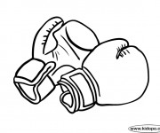 Coloriage et dessins gratuit Des Gants de Boxe à imprimer