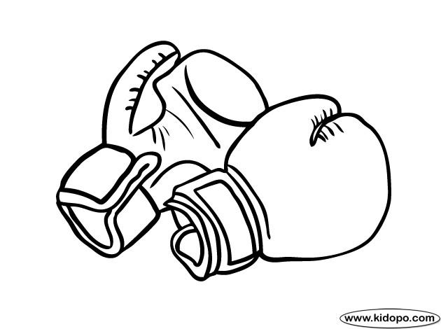 Coloriage des gants de boxe dessin gratuit imprimer - Gant de boxe dessin ...